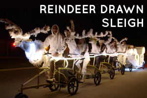 reindeer drawn sleigh